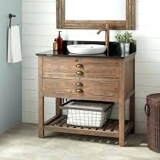 Rustic pine bathroom vanities Custom Reclaimed Bathroom Vanity Reclaimed Wood Console Vanity For Semi Recessed Sink Gray Wash Pine Bathroom Bathroom Reclaimed Bathroom Vanity Congtybaove