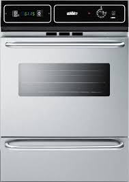 summit ttm7212bkw 24 single gas oven with lower broiler compartment in stainless steel
