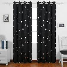 deconovo stars foil printed thermal insulated ready made curtains eyelet blackout curtains for boys bedroom 46