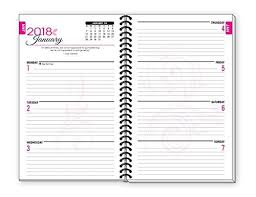 2018 Pink Inspirational Christian Daily Planner January To December Da