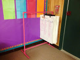 Chart Holder For Classroom Love The Anchor Chart Holder Made Out Of Pvc Pipes Charts