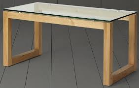 new tesco stanbury glass top coffee table solid oak 1 of 5only 1 available