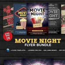 Free Movie Night Flyer Templates Download Movie Night Flyer Template Bundle 1445828 For Free