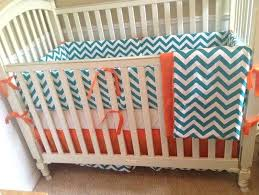 comfortable custom baby bedding cool teal orange baby bedding set custom made baby bedding uk