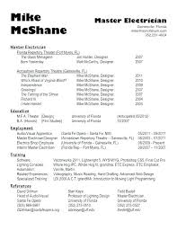 Sample Resume For Industrial Electrician Electrician Resumes
