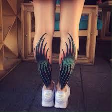 крылья на голенях нравятся как будущие татухи идеи для