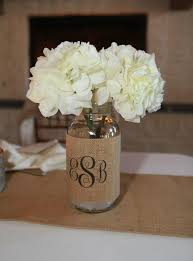 Decorating With Mason Jars And Burlap Decorating With Mason Jars And Burlap Monogram Burlap Mason Jar 8