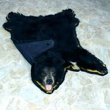 black bear skin rug faux bear rug faux bear skin rug with head fake bear skin