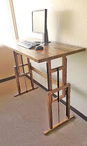 home office standing desk. adjustable hardwood standing desk by tjrwoodshop on etsy home office