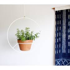 Mid Century Plant Stand White Hanging Planter Metal Plant Hanger Mid Century Plant