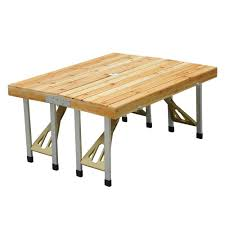 wooden portable folding picnic table ideal home show
