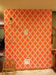 quatrefoil painted wallpaper