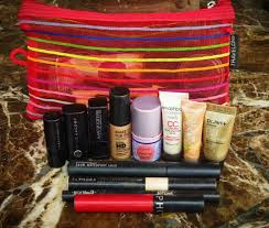 my makeup bag for a 7 month long backng trip through south america and europe