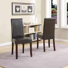 charming parsons chairs for your dining room design parsons chairs monsoon pacific milan faux leather