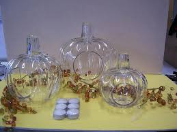 clear glass pumpkins picture of recalled pumpkin candle holders small clear glass pumpkins