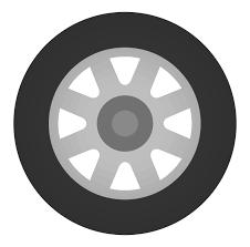 タイヤ1本のイラスト 無料のフリー素材 イラストエイト