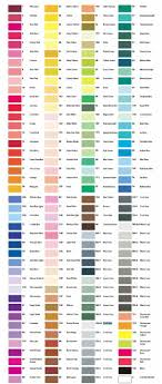 Wedding Color Chart Print Copic Color Chart Complete Color Chart By Raelynn8