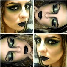 subtle green wicked witch makeup for with green contouring