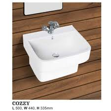 white wall mounted cozzy one piece wash