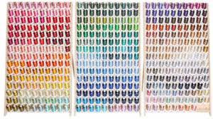 Robison Anton Polyester Embroidery Thread Chart Robison Anton 1100yd X All 453 Colors Poly Embroidery Machine Thread Kit 1 40wt Wood Racks Ra Thread Made In The Usa Thats 3 31 Spool Racks
