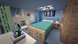 Minecraft Decorations For Bedroom Minecraft Modern Cool Blue Bedroom Design Youtube
