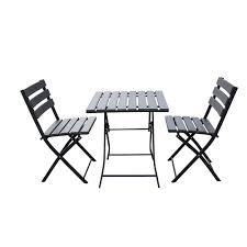Trueshopping Solback Garden Table & Chair <b>Bistro</b> Set - <b>3 Piece</b> ...