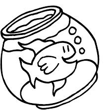 fish bowl coloring pages com goldfish bowl