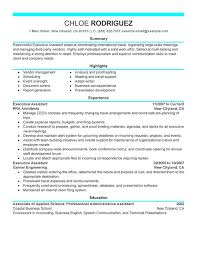executive assistant resume sample sample of the resume