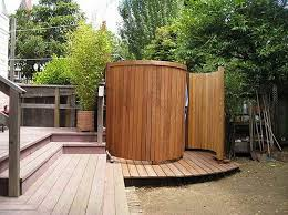 outdoor shower enclosure kit wooden