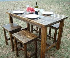 wooden outdoor furniture painted. Wooden Outdoor Table Bar Height Resin Wicker Set Patio Furniture . Painted