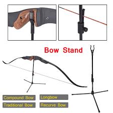<b>Bow Stand Archery Recurve Bow Holder</b> for <b>Hunting</b> Shooting Black ...