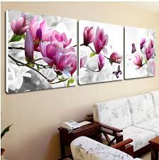 luxury elegant 3pcs canvas modern wall painting purple  on canvas wall art pink flowers with luxury elegant 3pcs canvas modern wall painting purple pink blue