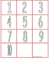 Numbers 1 10 Coloring Pages 71 In Addition To Coloring Numbers 1 ...