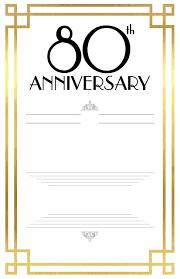 002 Template Ideas 80th Birthday Invitations Templates Free
