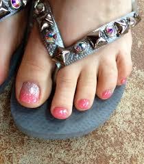 Pedicure Designs Glitter Beautiful Coral Glitter Ombre Toes Coral Ombre Nails