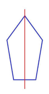 A Draw A Pentagon That Has Exactly One Line Of Symmetry Or