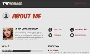 Html Resume Html Resume Templates