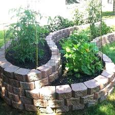 brick garden i may have to go with this idea since the previous owner left several brick garden
