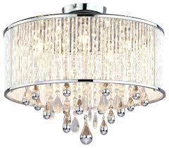 semi flush mount crystal chandelier black and chrome candice