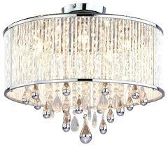 semi flush mount crystal chandelier 3 light la in gold finch intended
