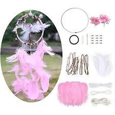 Make Your Own Dream Catcher Kit SOLEDI Dream Catcher Kit Pink Flower Buds Pendant DIY Dream 53
