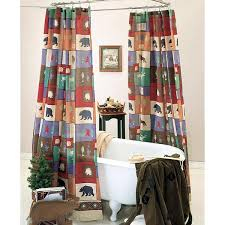 the woods shower curtain and valance
