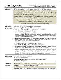Resume For Analyst Job Resume System Analyst Therpgmovie 57