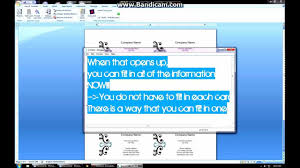make business card in word how to create business cards on microsoft word 2007 youtube