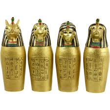 Canopic Jar Designs Details About Set Of 4 Egyptian Ancient Canopic Jars Organs