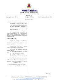 JORNAL OFICIAL DO MUNICÍPIO ANO XLVI Criado pela Lei nº 229/74 EDIÇÃO EXTRA  Em 09 de dezembro de 2020.