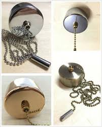 light pull chain switch chrome cover