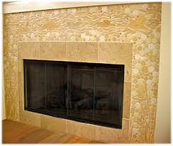 Decorative Hearth Tiles Decorative ceramic tile fireplace designs hand made fireplace 17