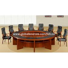 china custom wood panel office furniture round meeting conference table