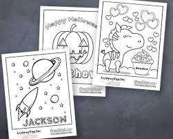 Free Personalized Coloring Pages For Kids My Frugal Adventures